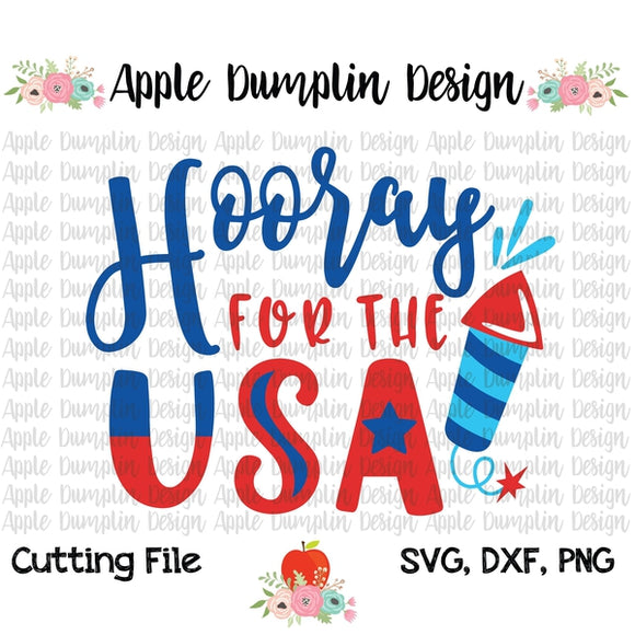 Hooray for the USA SVG - embroidery-boutique