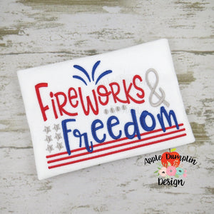 Fireworks and Freedom Embroidery Design, embroidery