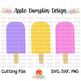 Popsicle Trio SVG - embroidery-boutique