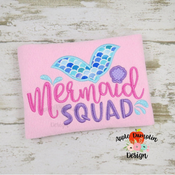 Mermaid Squad Applique Design - embroidery-boutique