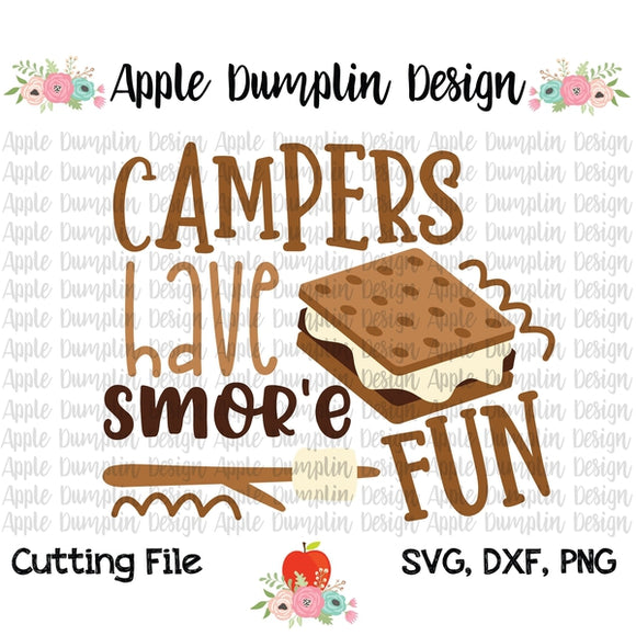 Campers Have Smor'e Fun SVG - embroidery-boutique