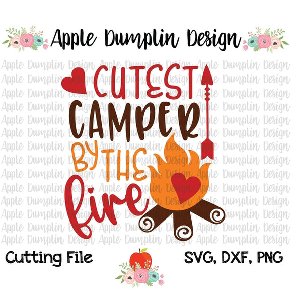 Cutest Camper by the Fire SVG - embroidery-boutique