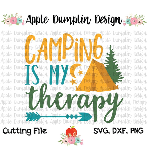 Camping is my Therapy SVG, SVG