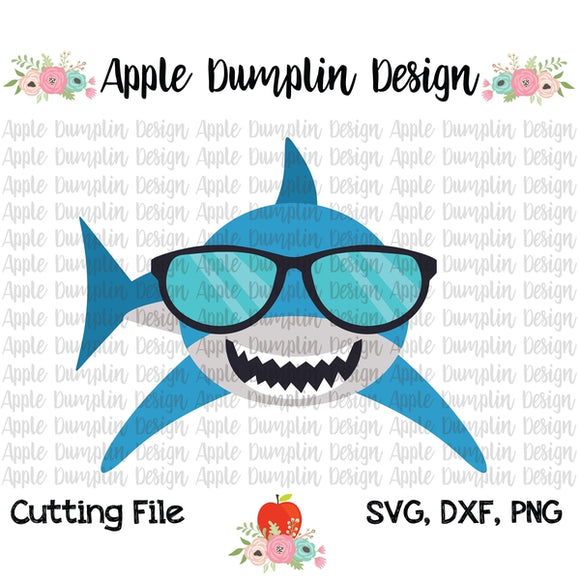 Shark with Shades SVG - embroidery-boutique