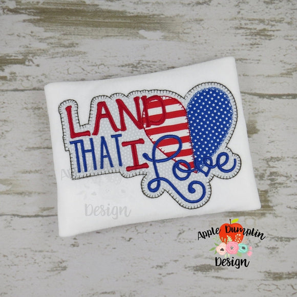 Land That I Love, Blanket Stitch, Applique Design, applique