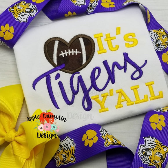 It's Tigers Y'all Embroidery Design - embroidery-boutique