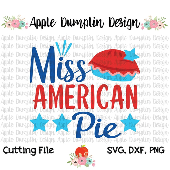 Miss American Pie SVG