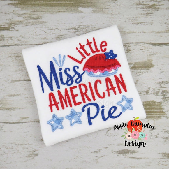 Little Miss American Pie Applique Design - embroidery-boutique