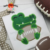 Mascot Gator, Applique Design - embroidery-boutique