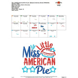Little Miss American Pie Applique Design, applique