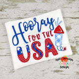 Hooray for the USA Embroidery Design