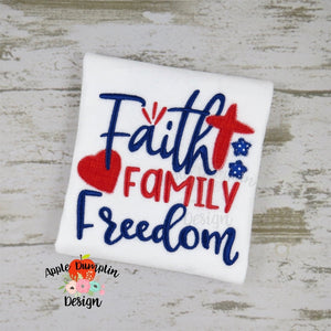 Faith Family Freedom Applique Design - embroidery-boutique
