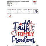 Faith Family Freedom Applique Design, applique