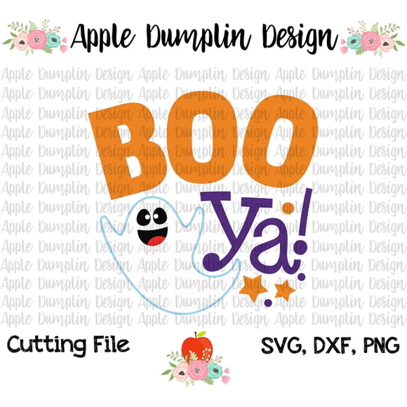Boo Ya, Ghost SVG - embroidery-boutique