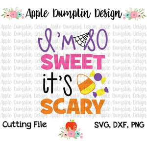 I'm So Sweet It's Scary SVG - embroidery-boutique