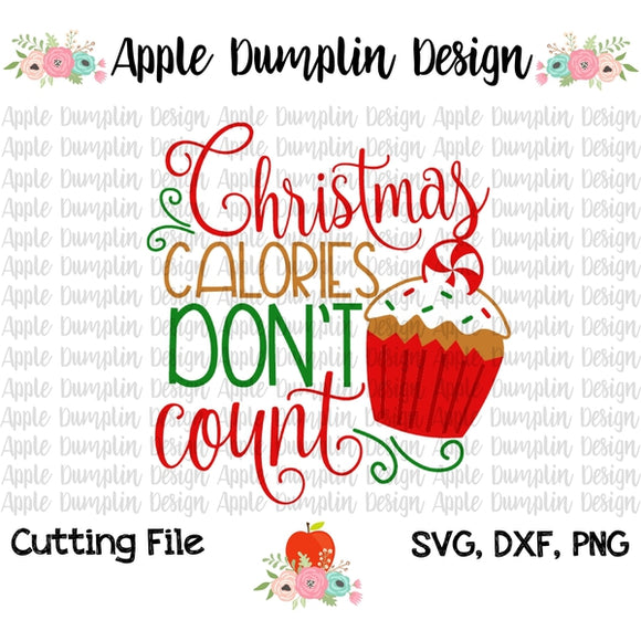 Christmas Calories Don't Count SVG - embroidery-boutique