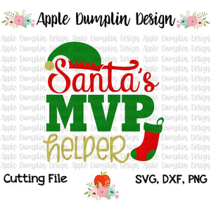 Santa's MVP Helper SVG - embroidery-boutique