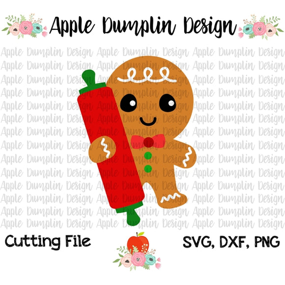 Gingerbread Man SVG - Embroidery Boutique