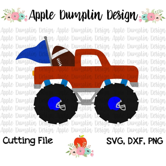 Football Monster Truck SVG - embroidery-boutique