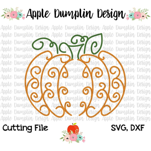 Swirly Pumpkin SVG - embroidery-boutique
