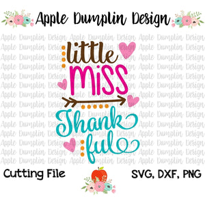 Little Miss Thankful SVG - embroidery-boutique