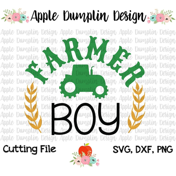 Farmer Boy SVG - embroidery-boutique
