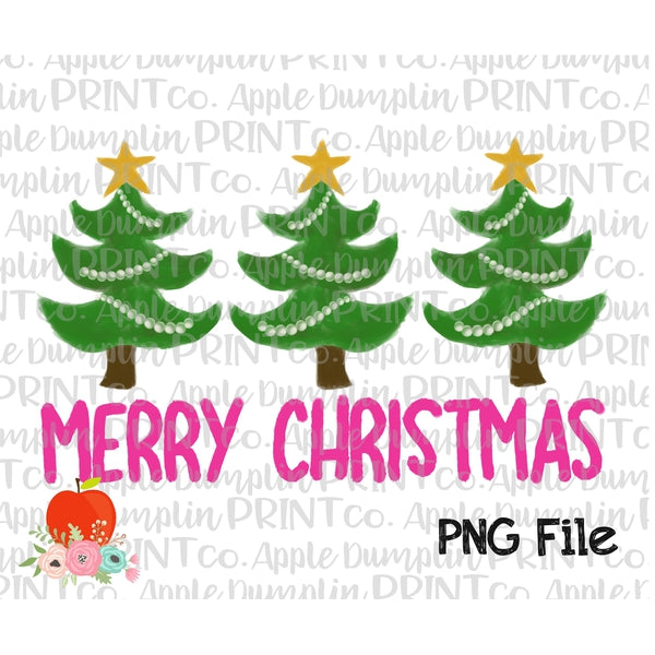graphic about Merry Christmas Printable identified as Crimson Merry Xmas Tree Trio Watercolor Printable Structure PNG