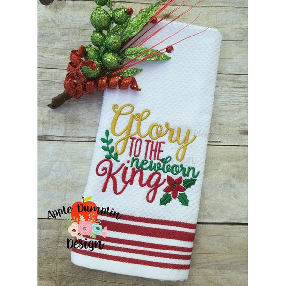 0ed05ccddae7f Glory to the Newborn King Embroidery Design - embroidery-boutique