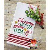 Oh Come Let Us Adore Him, Embroidery Design,