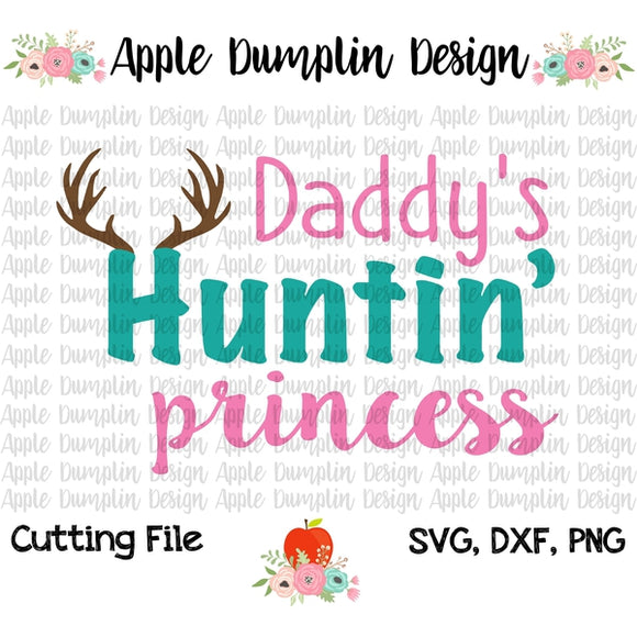 Daddy's Hunting Princess SVG - embroidery-boutique