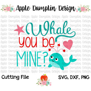 Whale You Be Mine? SVG - embroidery-boutique