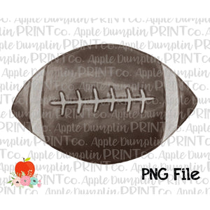 Football Watercolor Printable Design PNG - embroidery-boutique
