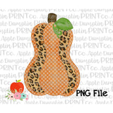 Leopard Pumpkin Watercolor Printable Design PNG - embroidery-boutique