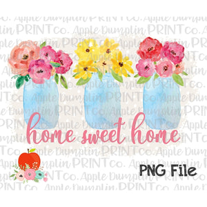 photograph relating to Home Sweet Home Printable known as Household Lovable Residence Mason Jars Polka Dot Record Watercolor Printable Structure PNG