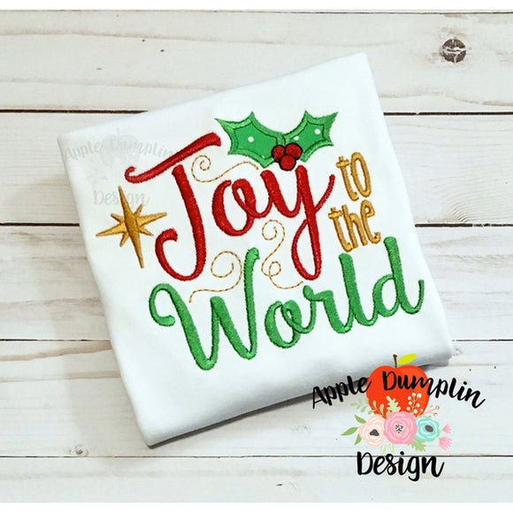 Joy to the World Applique Design - embroidery-boutique