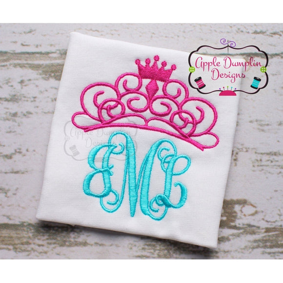 Cute Tiara Applique Machine Embroidery Design - embroidery-boutique