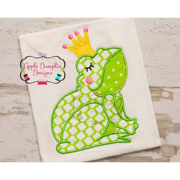 Frog with Crown Applique Design