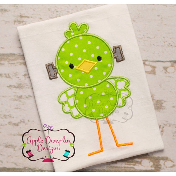Frankenstein Bird Applique Design - embroidery-boutique