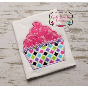 Cupcake Applique Design, applique
