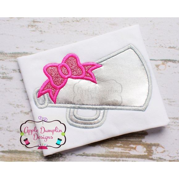 Megaphone with Bow Applique Design - embroidery-boutique