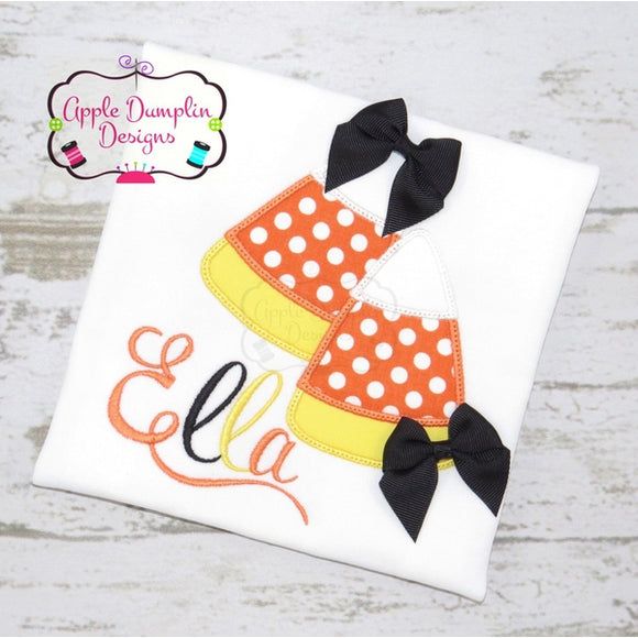 Candy Corn Applique Design - embroidery-boutique