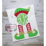 Elf Hat and Feet for Monogram Applique Design - Embroidery Boutique