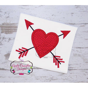 Heart with Arrows Applique Design