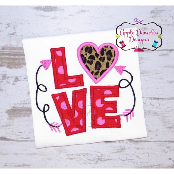Love with Arrows Applique Design - embroidery-boutique