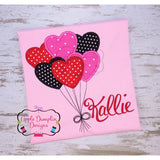 Valentine Heart Balloons Applique Design - embroidery-boutique