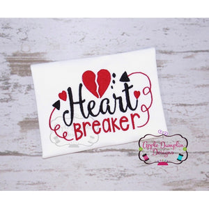 Heart Breaker Embroidery Design - embroidery-boutique