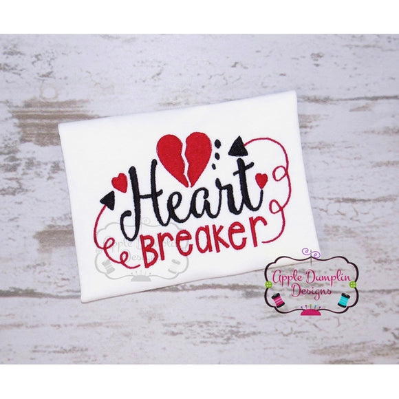 Heart Breaker Embroidery Design - Embroidery Boutique