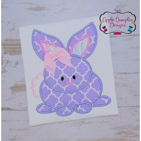 Sitting Bunny Applique Design - embroidery-boutique
