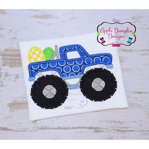 Easter Monster Truck Applique Design, applique