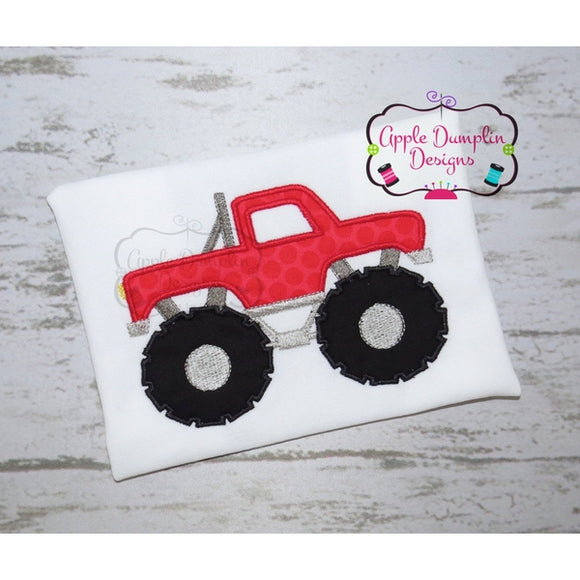 Monster Truck Applique Design - embroidery-boutique